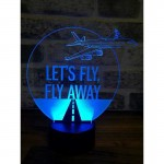 3D Let's Fly Lamp