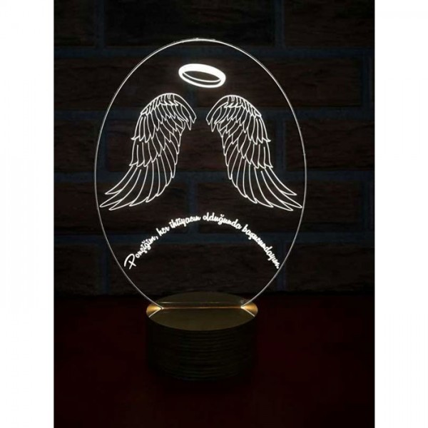 3D Angel Wings Lamp