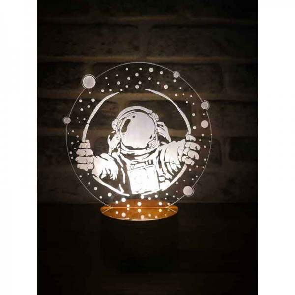 3D Astronaut Window Lamp