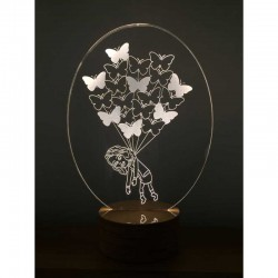 3D Butterfly Girl Lamp