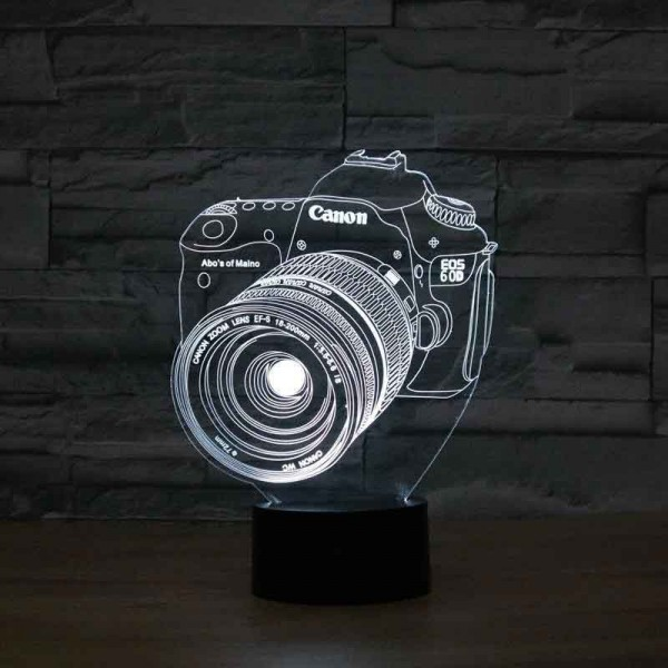 3D Canon Camera Lamp