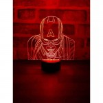 3D Captain America Lamp