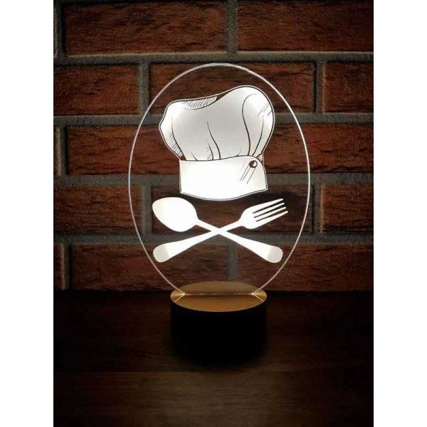 3D Chef Cook Lamp