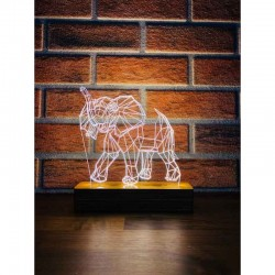 3D Geometric Elephant Lamp