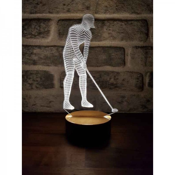 3D Golf Player Lamp