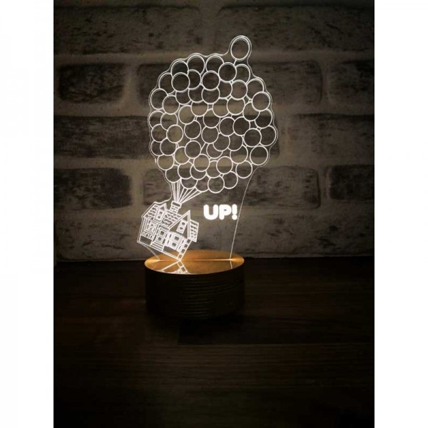 3D House Up Lamp