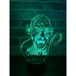 3D The Lord Of The Rings Gollum Lamp