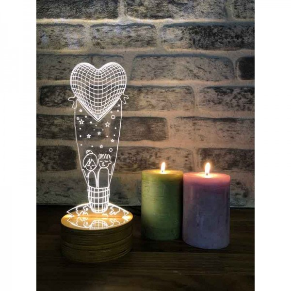 3D Love Balloon Lamp