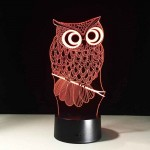 3D New Owl Lamp