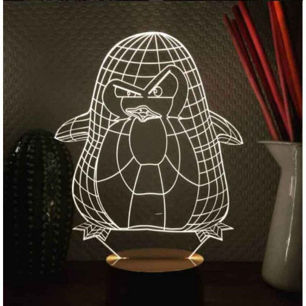 3D Penguin Lamp