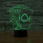 3D Poker Led Lamp