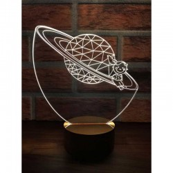 3D Saturn Girl Lamp