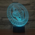 3D Saturn Rings Lamp