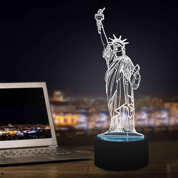 3D Statue Of Liberty Lamp