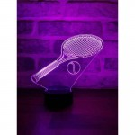 3D Tennis Racket Led Lamp