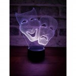 3D Theater Mask Lamp