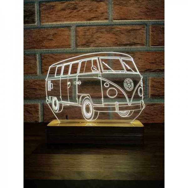 3D Volkswagen Panel Van Lamp