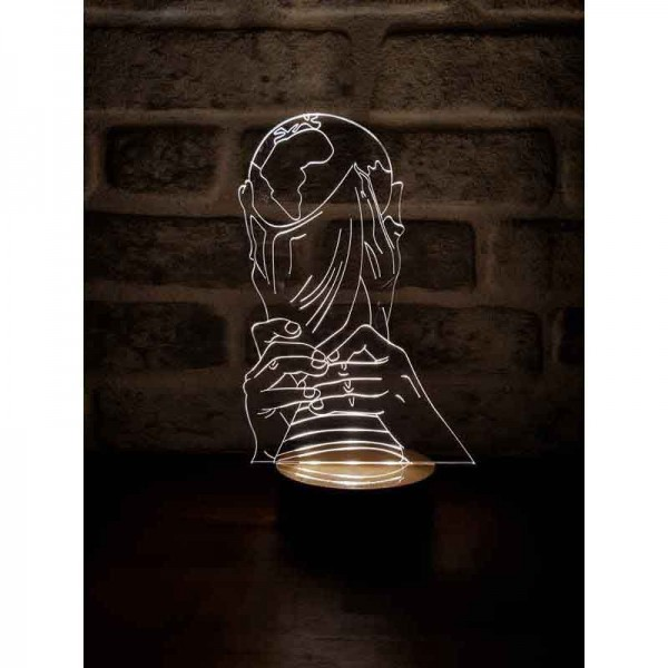 3D World Cup Lamp