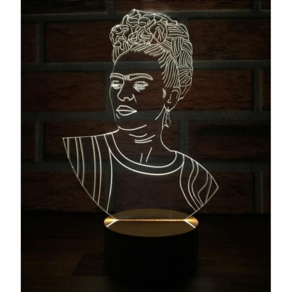 3D Frida Kahlo Lamp