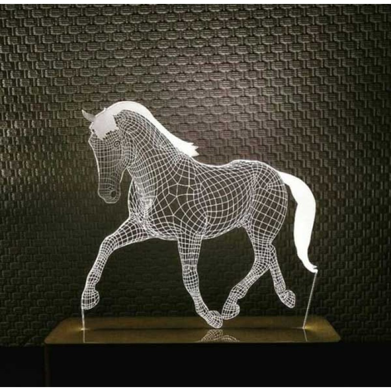 3d Horse Lamp Decorative 3d Lamp
