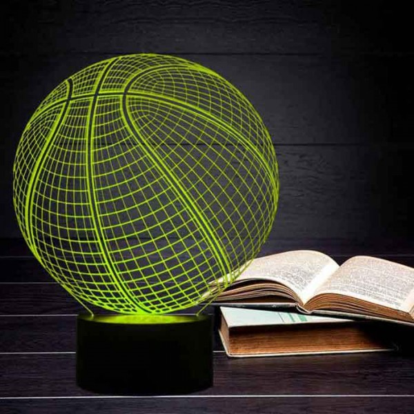 3D Illusion Basketball Lamp