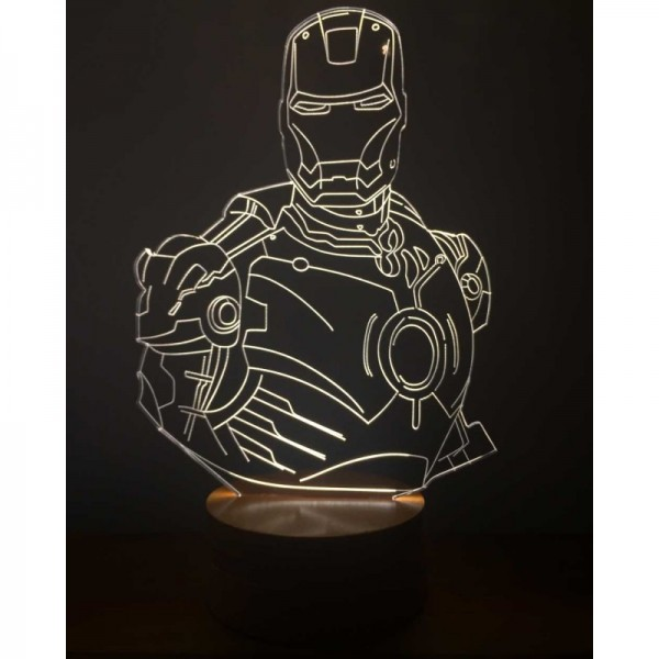 3D Iron Man Lamp