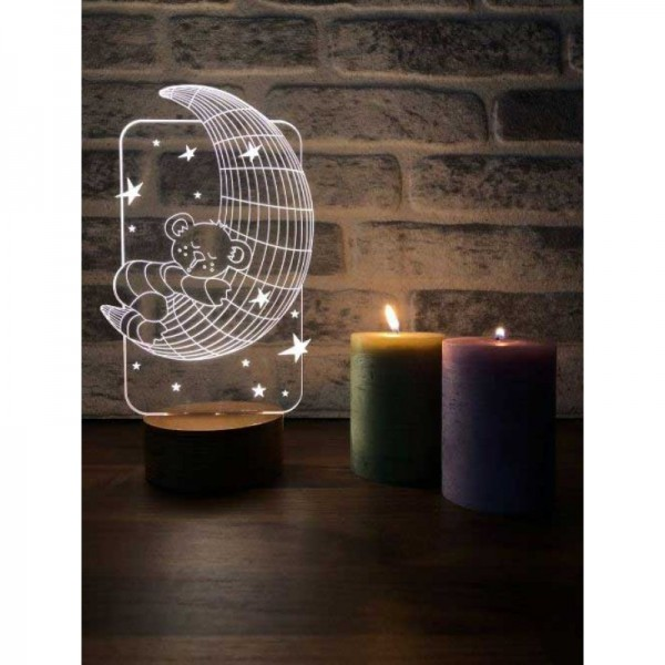 3D Moon Grandfather Lamp