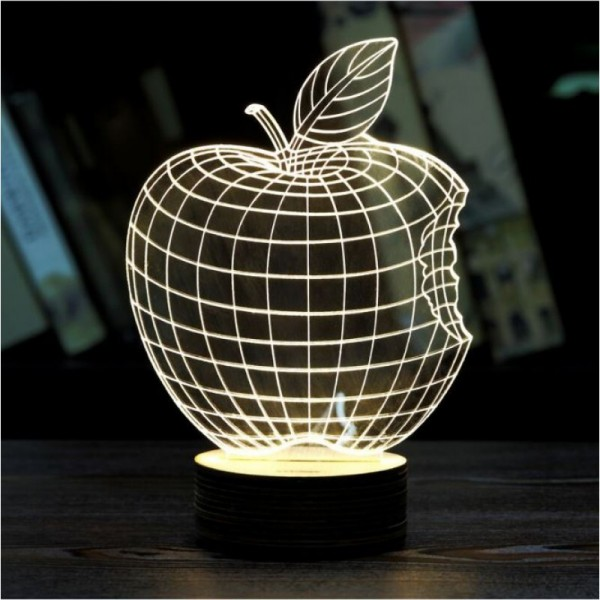 3D Bitten Apple Lamp