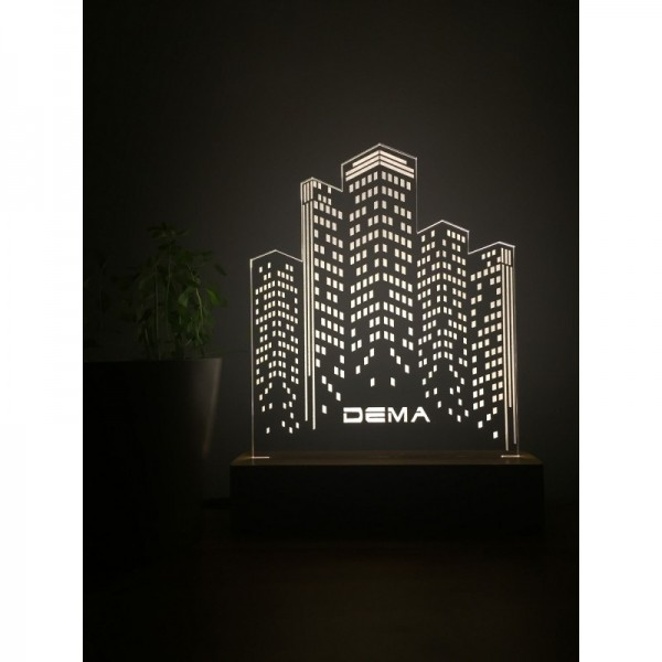 3D Buildings Lamp