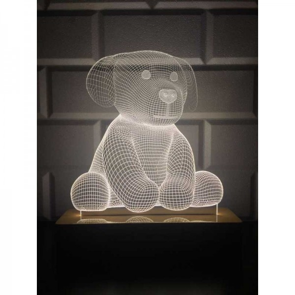 3D Cute Dog Lamp
