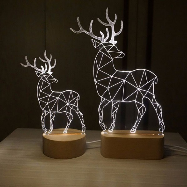 3D Deers Small Lamp