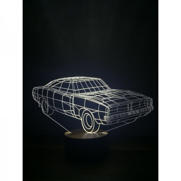 3D Dodge Charger Lamp