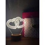 3D Double Heart Lamp