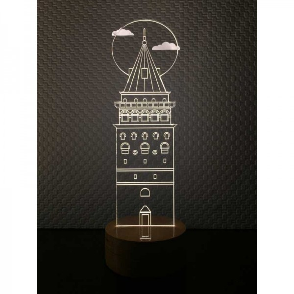 3D Galata Tower New Lamp