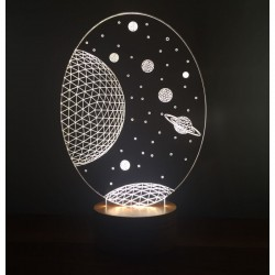 3D Galaxy Saturn Lamp