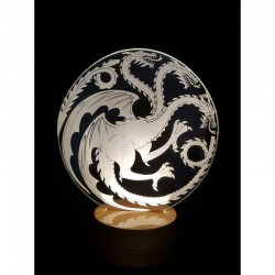 3D Game Of Thrones Dragon Lamp