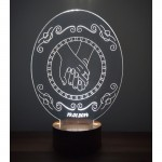 3D Hand in Hand Lamp
