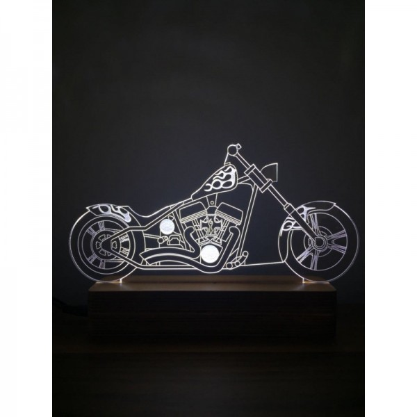 3D H.Davidson Chopper Lamp