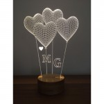 3D Heart Balloon Lamp