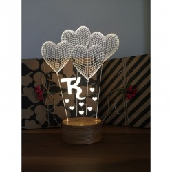 3D Heart Balloon with Little Hearts Lamp