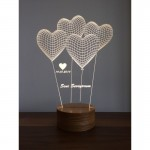 3D Heart Balloon with I Love You Lamp