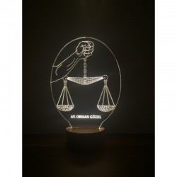 3D Justice Leveling Lamp