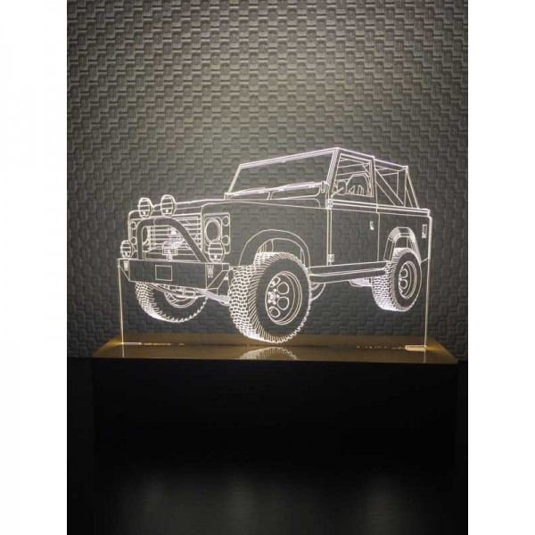 3D Land Rover Lamp