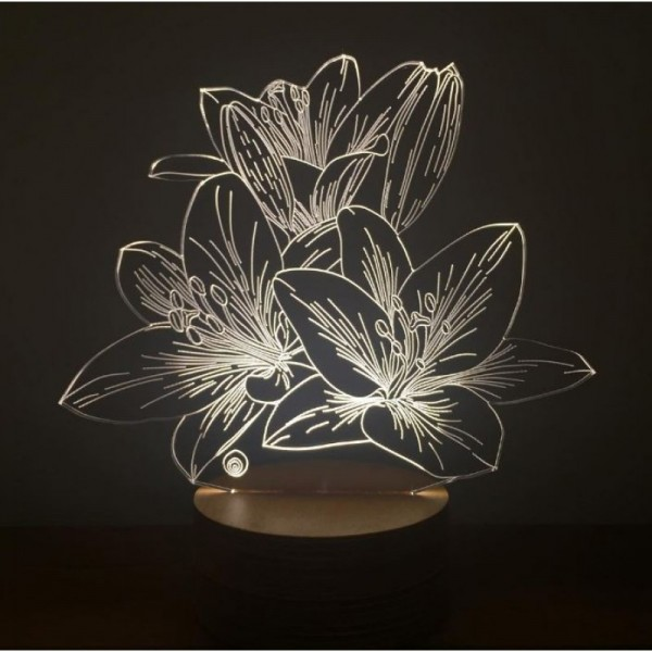 3D Lilium Flower Lamp