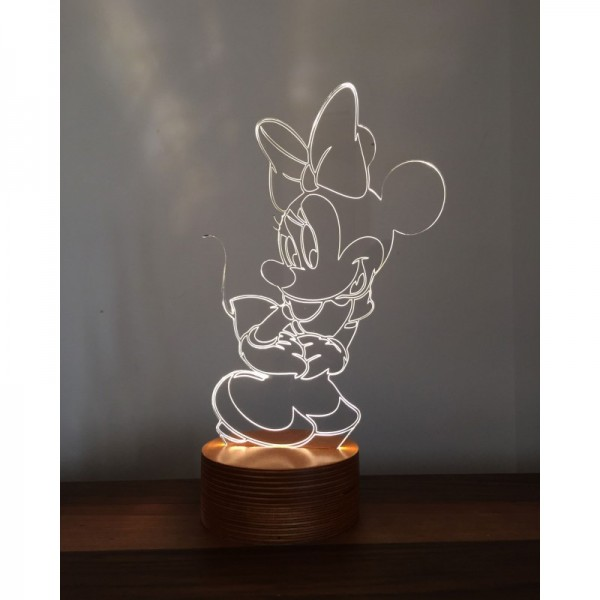 3D Minnie Mouse Lamp