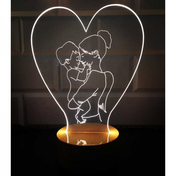 3D Mother&Son Lamp