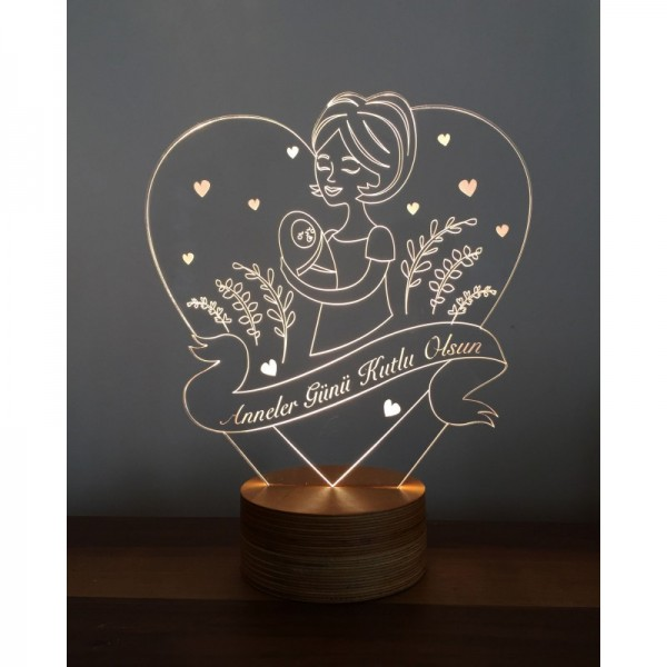 3D Mother's Day Lamp