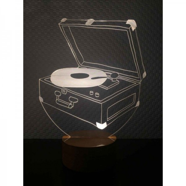3D Record Player Lamp