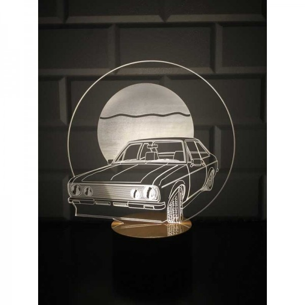 3D Retro Car Lamp