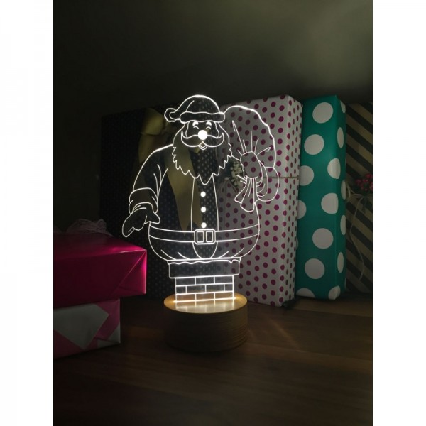 3D Santa Claus Chimney Lamp
